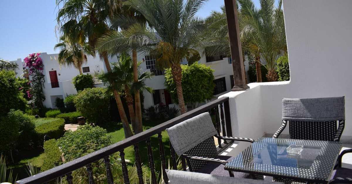 New Studio in Delta Sharm balcony