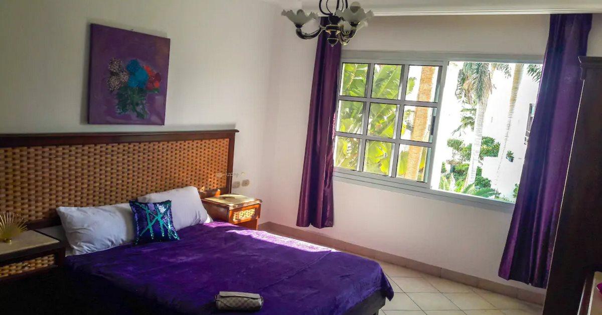 Trendy garden view studio bedroom